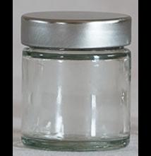Üvegtégely ezüst tetővel 30 ml