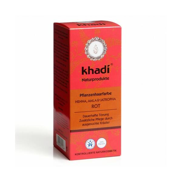 Hajfesték por vörös (henna,amla,jatropha rot) 100 g - Khadi