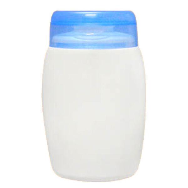 Kozmetikai flakon kék tetővel 100 ml