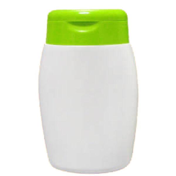 Kozmetikai flakon zöld tetővel 100 ml
