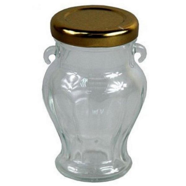 Üvegamphora arany tetővel 106 ml