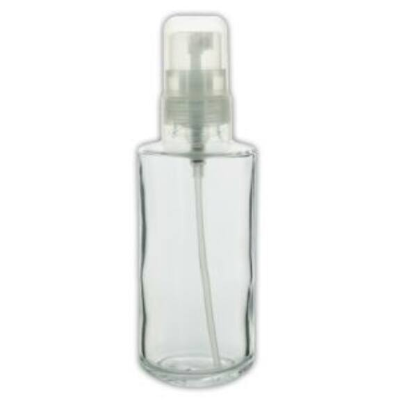 Átlátszó üveg flakon szórófejjel 125 ml