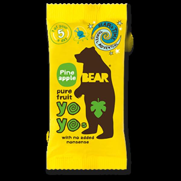 Bear yoyo ananászos természetes gyümölcs tekercs 20 g