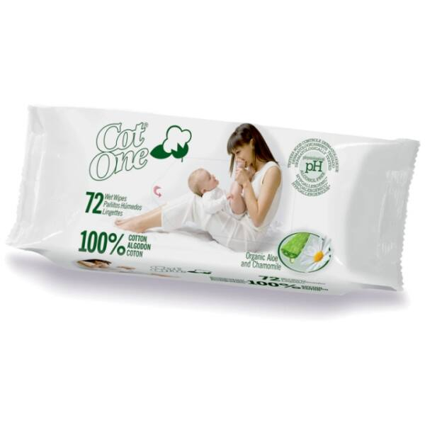 100% bio pamut törlőkendő 72 db - Cot One