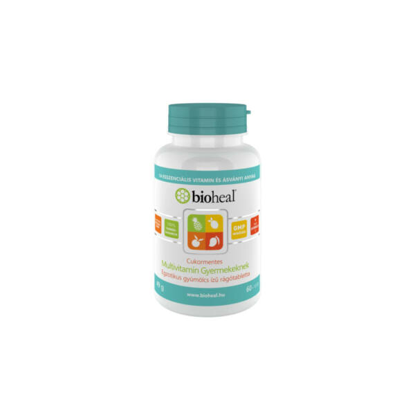 Bioheal Cukormentes Multivitamin gyermekeknek egzotikus gyümölcs ízű (70 db rágótabletta)