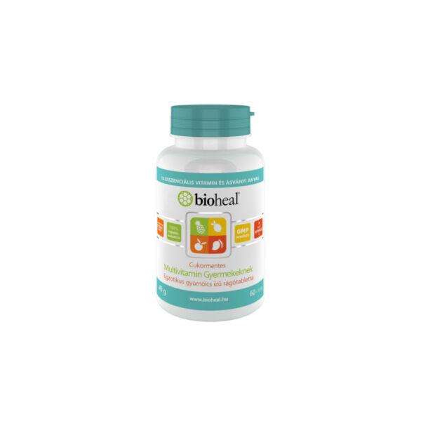 Bioheal Cukormentes Multivitamin gyermekeknek (70 db rágótabletta), lejár: 2021/03/31