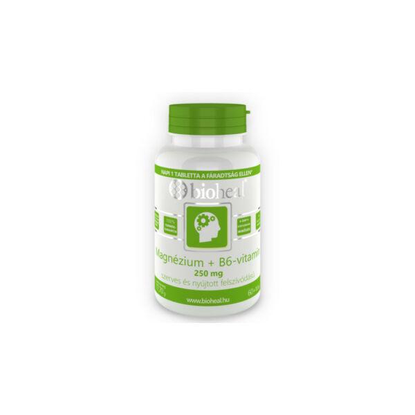Bioheal Magnézium + B6-vitamin 250 mg szerves nyújtott felszívódású (70 db filmtabletta)