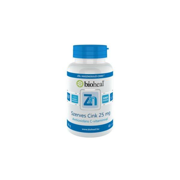 Bioheal Szerves Cink 25 mg (70 db filmtabletta)