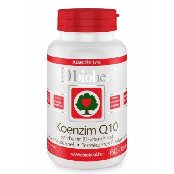 Bioheal Koenzim Q10 60 mg Szelénnel E-vitaminal és B1-vitaminnal (70 db)