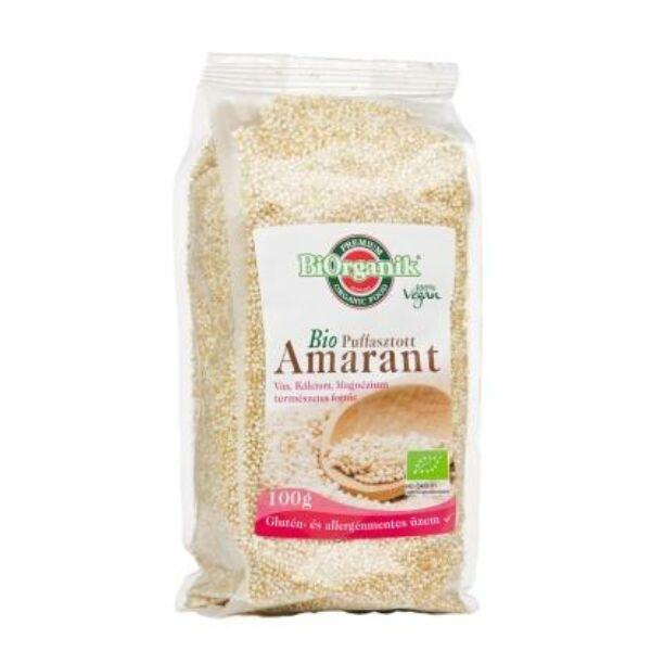 Amaránt puffasztott bio 100g - Biorganik