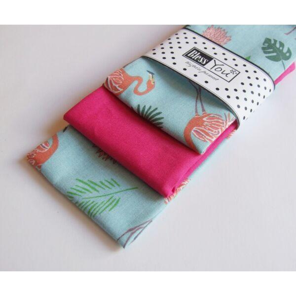 Textil zsebkendő M méret flamingós 3 db-os - Bless You