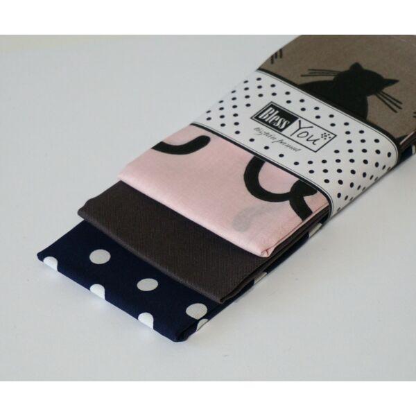 Textil zsebkendő M méret macskák 3 db-os - Bless You