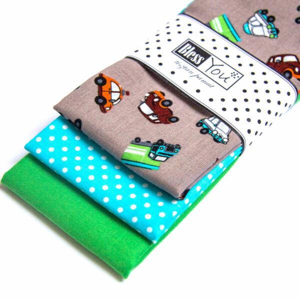 Textil zsebkendő gyerekeknek autós 3 db-os - Bless You