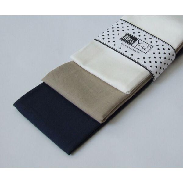 Textil zsebkendő XL méret classic 3 db-os - Bless You