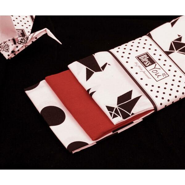Textil zsebkendő L méret origami 3 db-os - Bless You