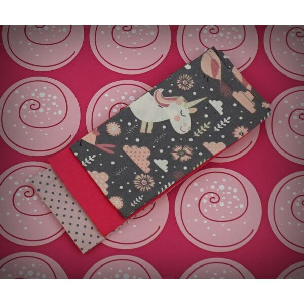 Textil zsebkendő M méret unikornis 3 db-os - Bless You