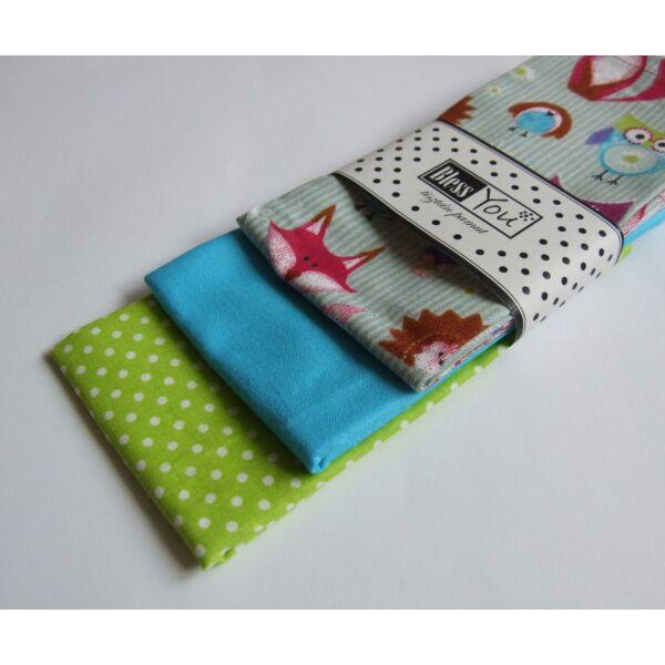 Textil zsebkendő gyerekeknek erdei állatok 3 db-os - Bless You
