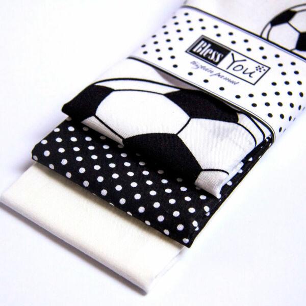 Textil zsebkendő gyerekeknek focis 3 db-os - Bless You