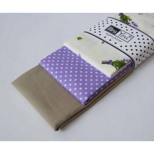 Textil zsebkendő L méret levendulás 3 db-os - Bless You