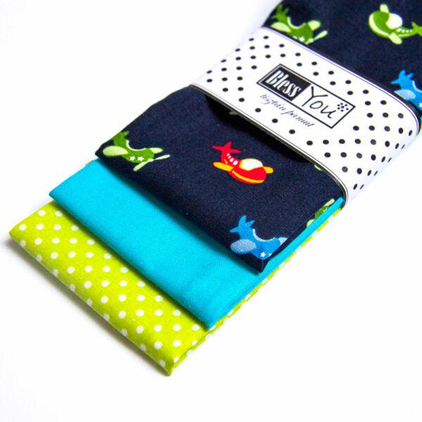 Textil zsebkendő gyerekeknek repülős 3 db-os - Bless You