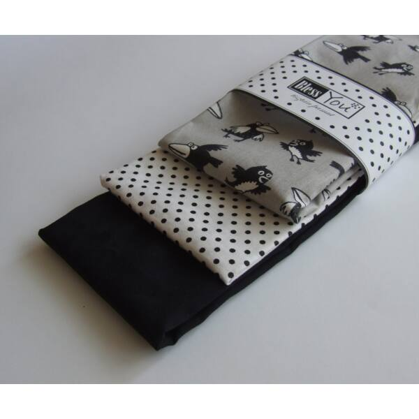 Textil zsebkendő férfiaknak varjú 3 db-os - Bless You