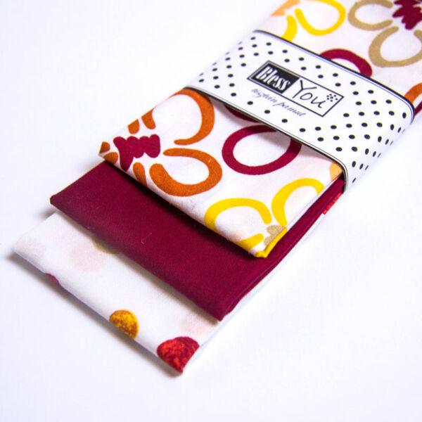 Textil zsebkendő gyerekeknek virágos 3 db-os - Bless You