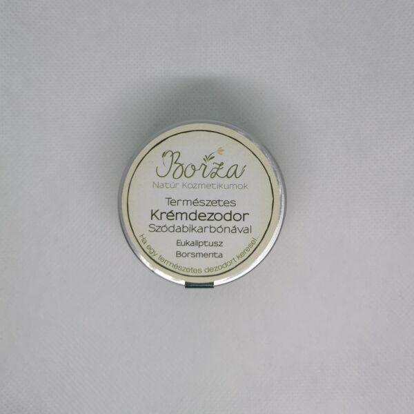 Krémdezodor szódabikarbónával eukaliptusz-borsmenta 45 ml - Borza