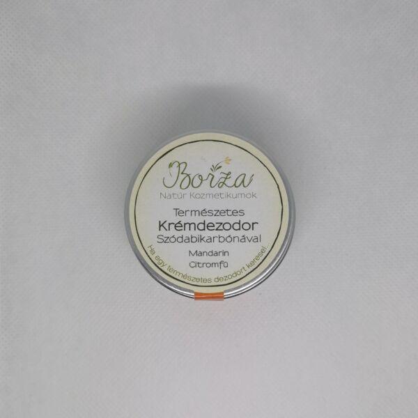 Krémdezodor szódabikarbónával mandarin-citromfű 45 ml - Borza