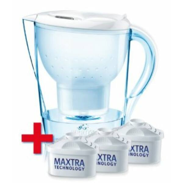 Brita Marella Cool fehér vízszűrő kancsó 3 db szűrőbetéttel