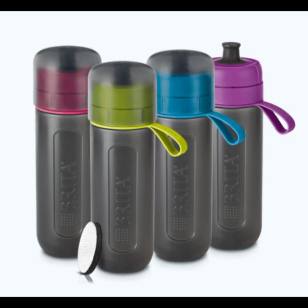 BRITA Fill&GO Active lila vízszűrő palack