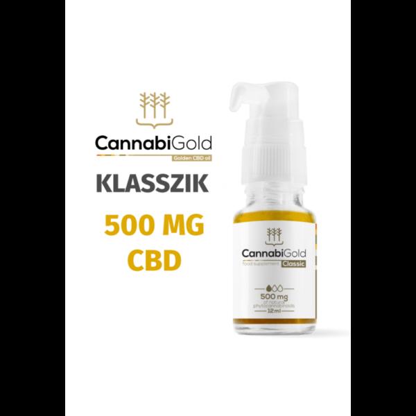 CannabiGold Classic CBD olaj 12 ml (500 mg CBD)