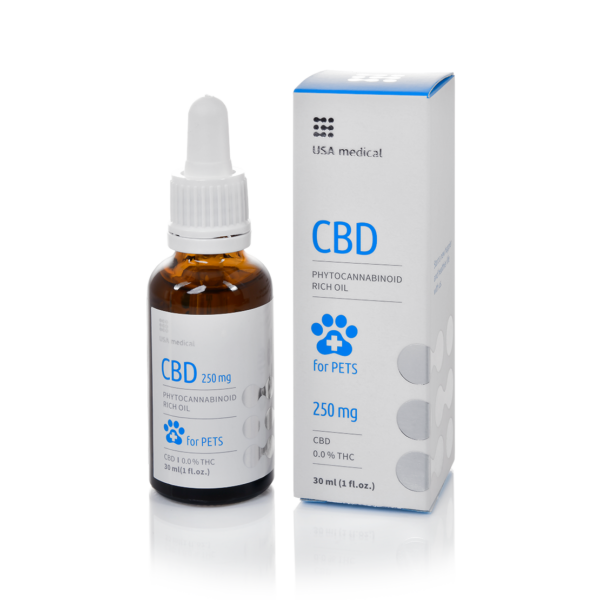 CBD olaj 30 ml állatoknak 250 mg - USA medical