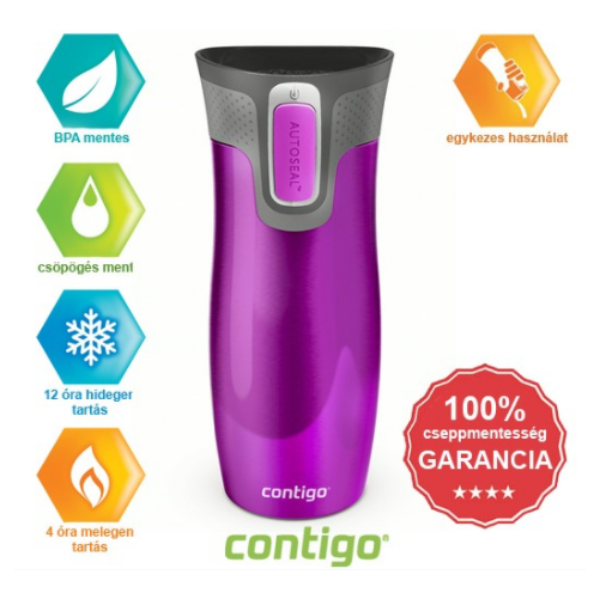 Contigo West loop termosz málna 470 ml