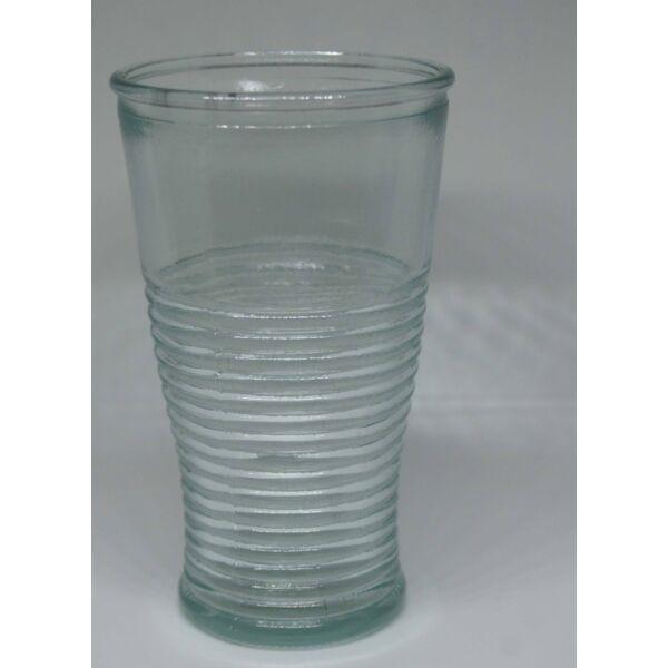Üvegpohár csíkos átlátszó