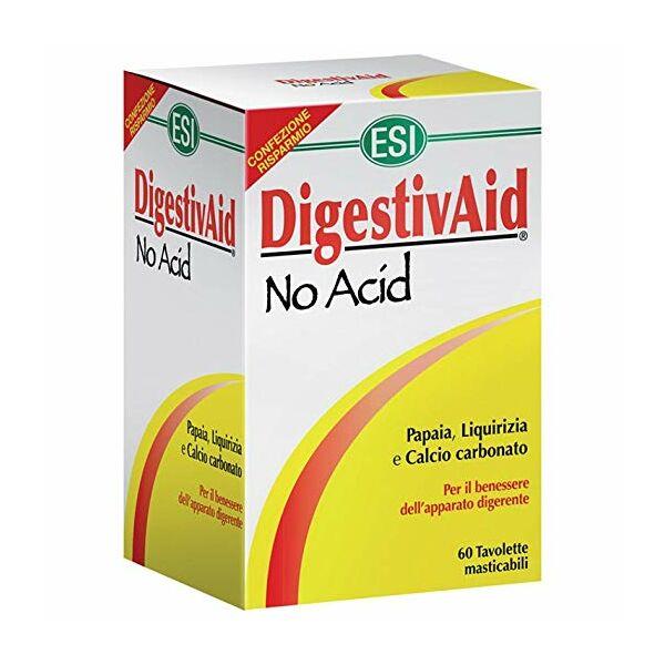 Lúgosító-savlekötő Digestivaid No Acid szopogatós tabletta 60 db - ESI (nagy kiszerelés)