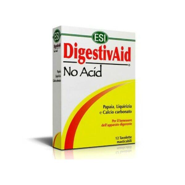 Lúgosító-savlekötő Digestivaid No Acid szopogatós tabletta 12 db - ESI