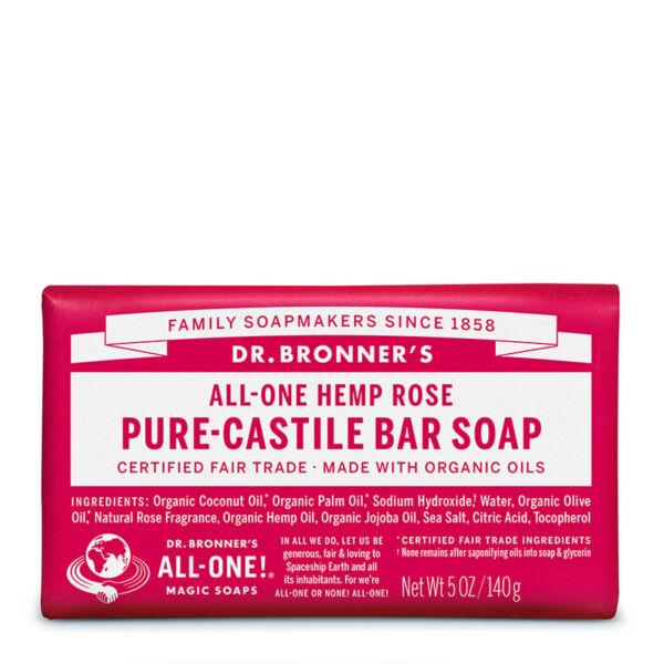 Szilárd szappan rózsa 140 g - Dr. Bronners