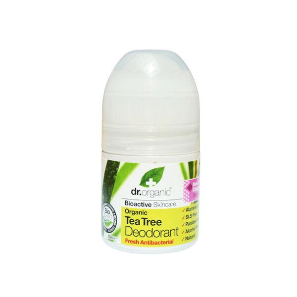 Golyós dezodor bio teafával 50 ml - Dr. Organic