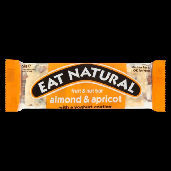 Gluténmentes müzliszelet mandula-sárgabarack-joghurt 50 g - Eat Natural