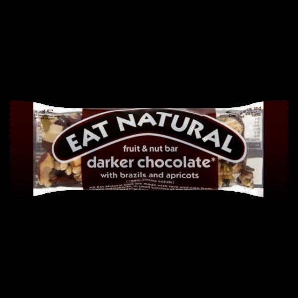 Gluténmentes müzliszelet mandula-sárgabarack csokoládéban (darker chocolate) 50 g - Eat Natural