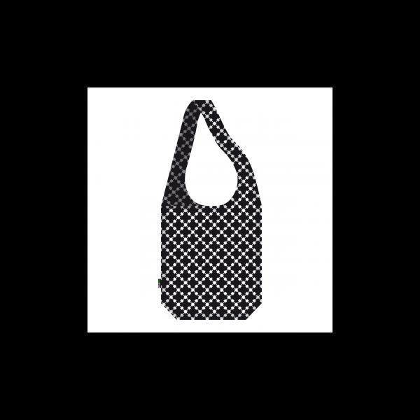 Vállon átvethető táska Squares Black - ecozz