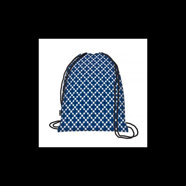 Zsinóros hátizsák Squares Blue - ecozz