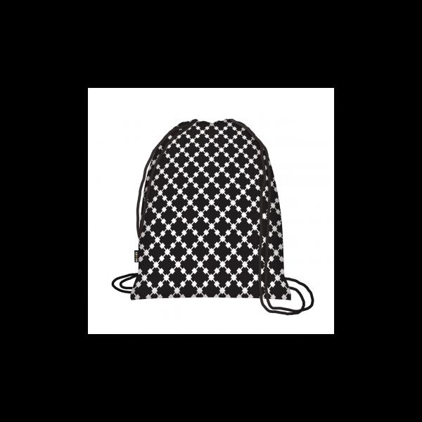 Zsinóros hátizsák Squares Black - ecozz