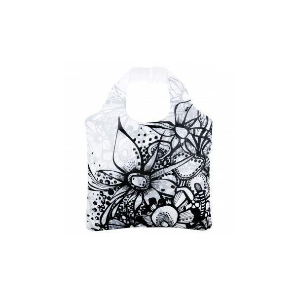 Rövid fülű bevásárlótáska cipzárral Artistic 02 - ecozz