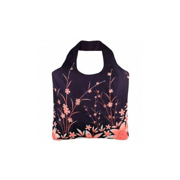 Rövid fülű bevásárlótáska cipzárral Flowers 1 - ecozz