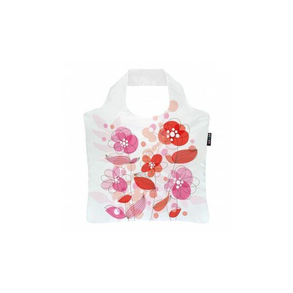 Rövid fülű bevásárlótáska cipzárral Happy Roses - ecozz