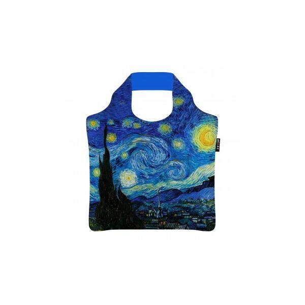 Rövid fülű bevásárlótáska cipzárral Starry Night by Vincent van Gogh - ecozz