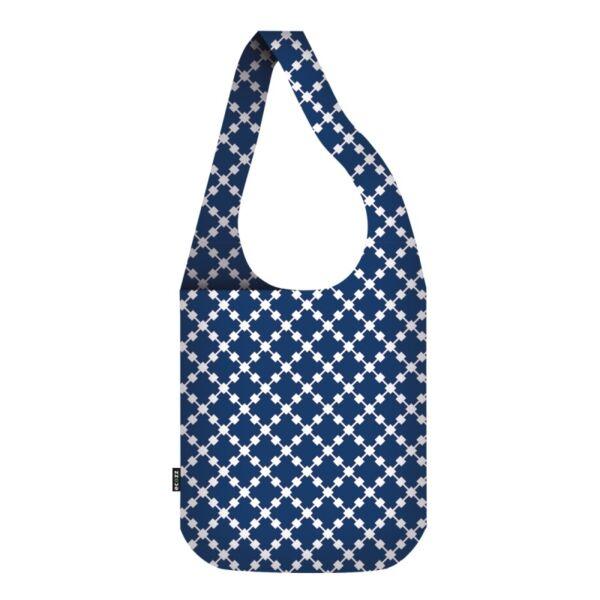 Vállon átvethető táska Squares Blue - ecozz