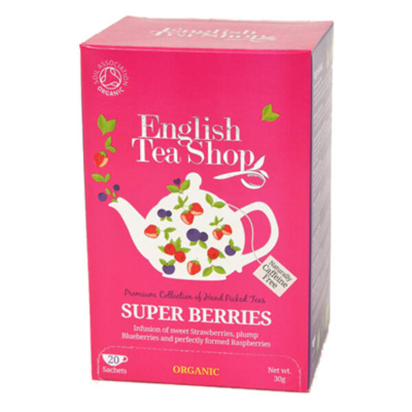 Bio tea szuper bogyós filteres 20*1,5 g - English Tea Shop