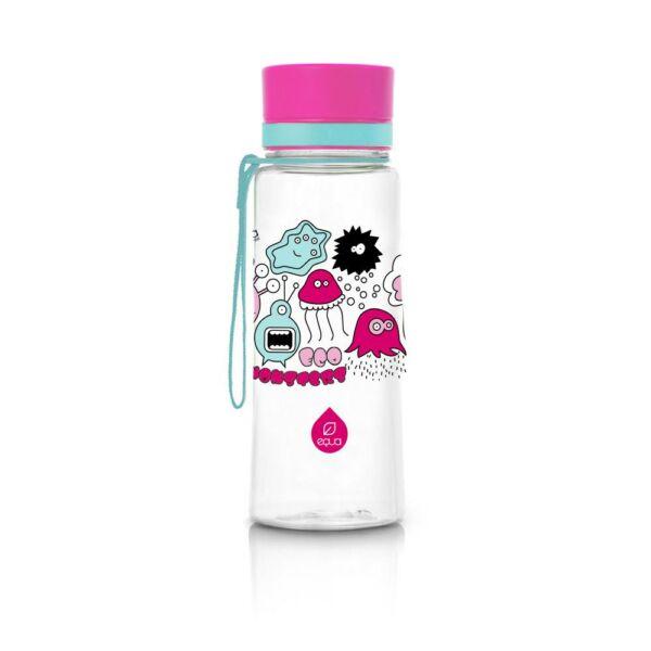 EQUA kulacs pink szörnyecskés 600 ml (BPA mentes műanyag)
